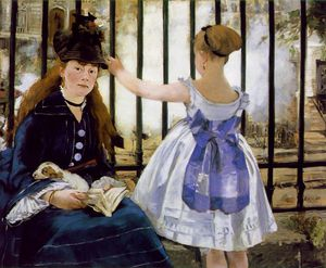 Edouard Manet - The railway, National Gallery