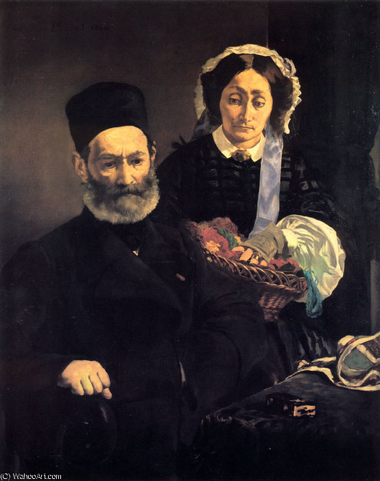 famous painting M and Mme Auguste Manet of Edouard Manet