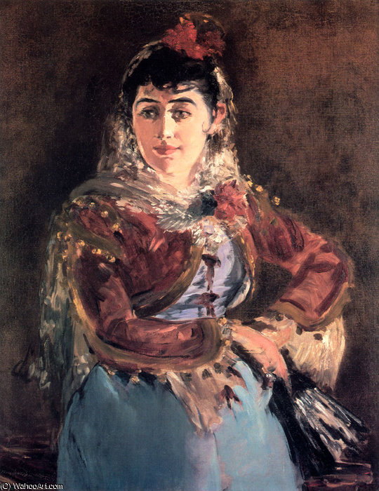 famous painting Portrait of Emilie Ambre in the role of Carmen of Edouard Manet