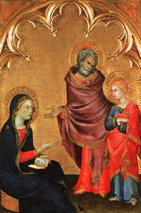Simone Martini - Christ Discovered in the Temple (The Holy Family), -