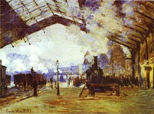 Claude Monet - Gare Saint Lazare; the Train from Normandy