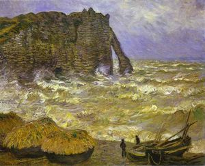 Claude Monet - Rough sea - etretat