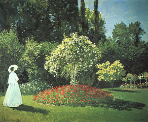 Claude Monet - Jeanne-Marguerite Lecadre in the Garden, oil on