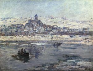 Claude Monet - Vétheuil in Winter, or Frick co