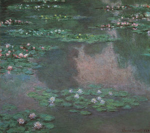 Claude Monet - Water Lilies I, oil on canvas, Museum of Fine Ar