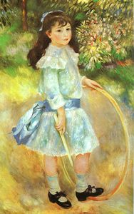 Pierre-Auguste Renoir - Girl with a Hoop (Marie Goujon), oil on canvas,