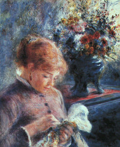 Pierre-Auguste Renoir - Lady Sewing, Art Institute of Chicago