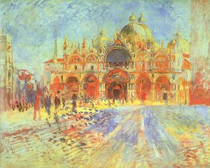 Pierre-Auguste Renoir - St. Mark's Square, Venice, oil on canvas, Minne