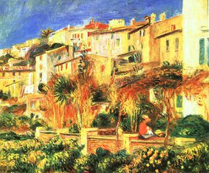 Pierre-Auguste Renoir - Terrace in Cagnes, oil on canvas, Bridgestone M