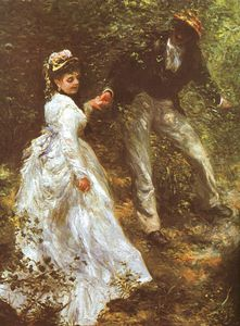 Pierre-Auguste Renoir - The Promenade, oil on canvas, British Rail Pens