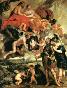Peter Paul Rubens - The Presentation of the Portrait, Louvre