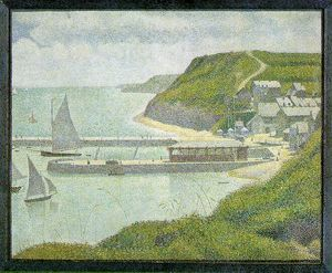 Georges Pierre Seurat - Port-en-Bessin - Outer Harbor at High Tide,