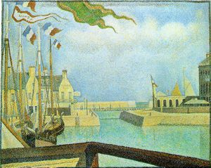 Georges Pierre Seurat - Sunday at Port-en-Bessin, Rijksmuseum Kroller-M