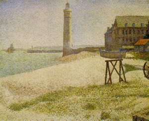 Georges Pierre Seurat - The Lighthouse at Honfleur, NG Wa