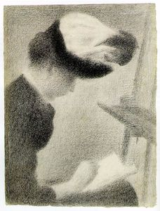 Georges Pierre Seurat - Woman Seated by an Easel, ca