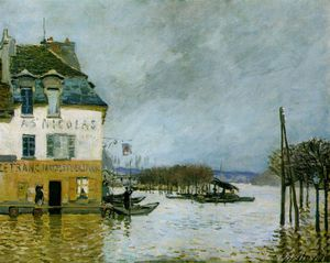 Alfred Sisley - Flood at Port-Marly, Musee des Beaux -
