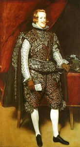 Diego Velazquez - Philip IV in Brown and Silver, oil on can
