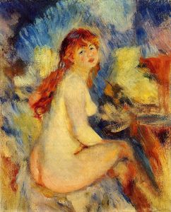 Pierre-Auguste Renoir - Bust of a Nude Female