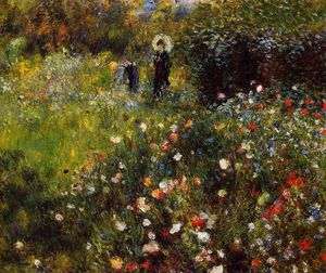 Pierre-Auguste Renoir - Summer Landscape (Woman with a Parasol in a Garden)