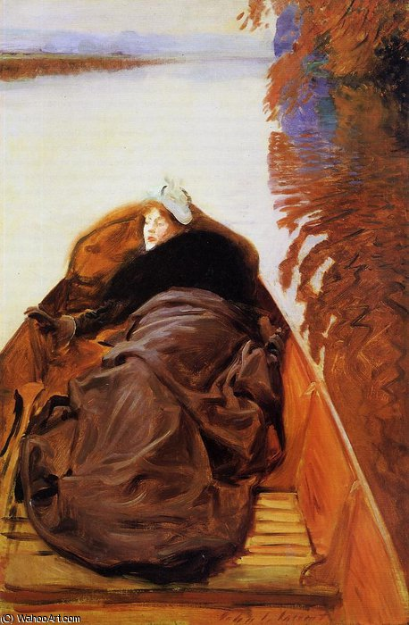 famous painting Autumn on the River (Miss Violet Sargent) of John Singer Sargent