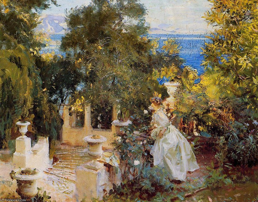famous painting Garden in Corfu of John Singer Sargent