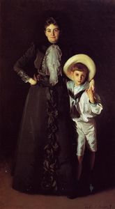 John Singer Sargent - Mrs Edward L. Davis and Her Son Livingston Davis