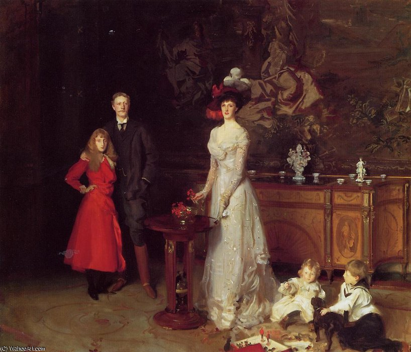 Order Museum Quality Copies Impressionism | Sir George Sitwell, Lady Sitwell and Family by John Singer Sargent | TopImpressionists.com