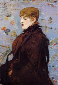Edouard Manet - Autumn, Portait of Mery Laurent in a Brown Fur Cape