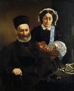 Edouard Manet - Portrait of Monsieur and Madame Manet (The Artist's Parents)