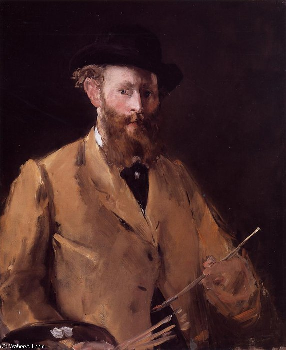 famous painting Self Portrait with Palette of Edouard Manet