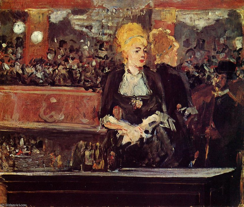 famous painting Study for 'Bar at the Folies-Bergere' of Edouard Manet