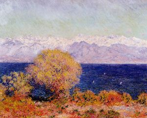 Claude Monet - View of the Bay and Maritime Alps at Antibes