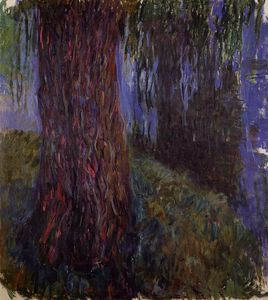 Claude Monet - Water-Lily Garden with Weeping Willow