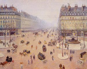 Camille Pissarro - Avenue de l'Opera, Misty Weather