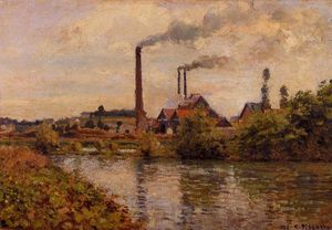 Camille Pissarro - Factory at Pontoise