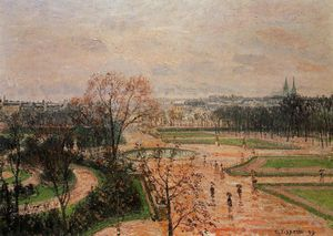 Camille Pissarro - The tuileries gardens - rainy weather