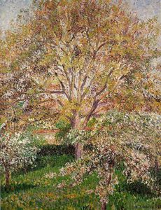 Camille Pissarro - Walnut and Apple Trees in Bloom, Eragny