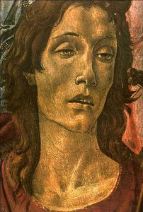 Sandro Botticelli - San Barnaba Altarpiece (head of St John)