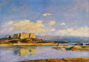 Eugène Louis Boudin - Antibes, fort carre