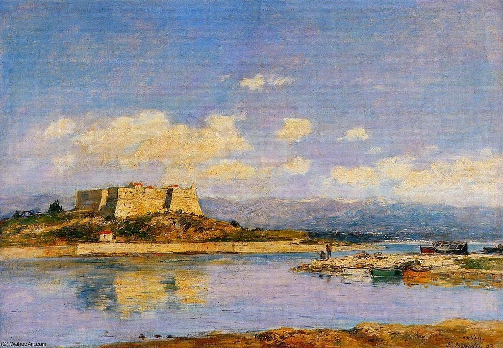 famous painting Antibes, fort carre of Eugène Louis Boudin