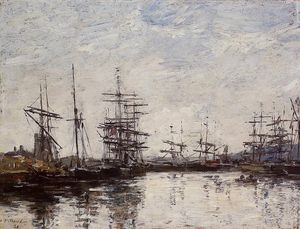 Eugène Louis Boudin - Deauville, the Basin
