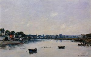Eugène Louis Boudin - The Banks of the Touques