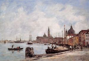 Eugène Louis Boudin - Venice, the Dock of the Giudecca