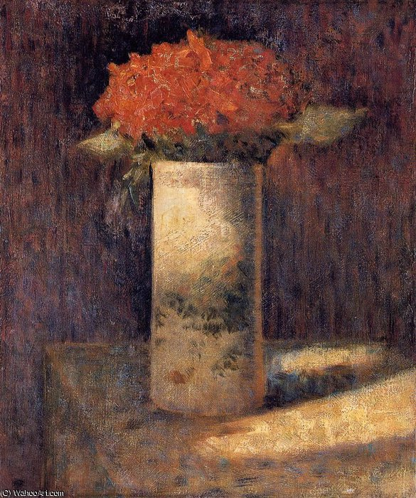 famous painting Boquet in a Vase of Georges Pierre Seurat