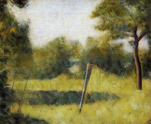 Georges Pierre Seurat - The Clearing (Landscape with a Stake)