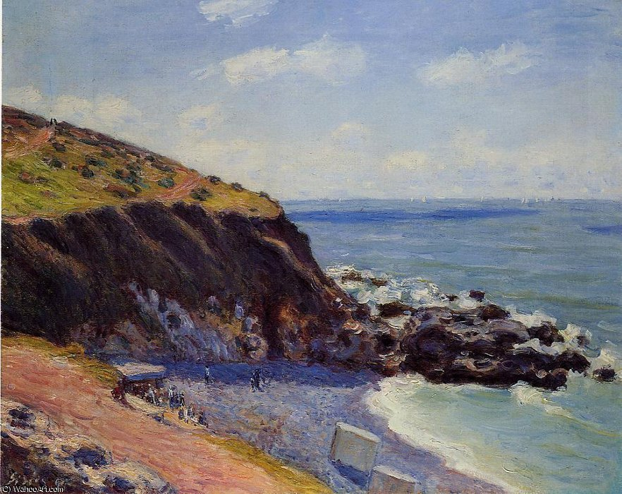 famous painting Lady's cove - langland bay, morning of Alfred Sisley