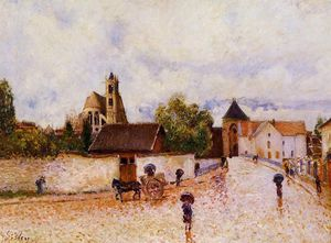 Alfred Sisley - Moret-sur-Loing, Rainy Weather