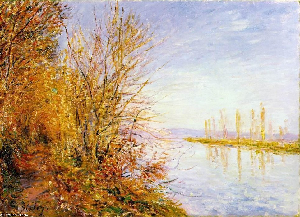 famous painting The Chemin de By through, St. Martin's, Summer of Alfred Sisley