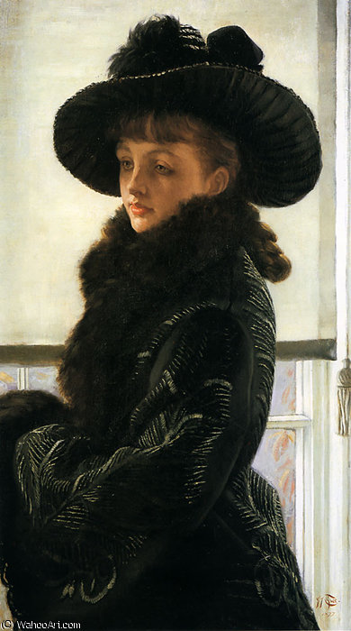 famous painting Portrait of Kathleen Newton of James Jacques Joseph Tissot