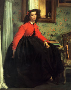 James Jacques Joseph Tissot - Young Girl in Red Jacket